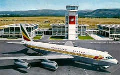 Ethiopian Airlines 707 (Neil F King) Tags: africa plane airplane airport aircraft postcard boeing airliner