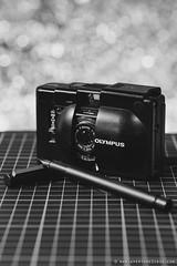 Olympus XA + Lamy CP1 (theperplexingparadox) Tags: blackandwhite bokeh filmcamera olympusxa tamron90mm cameraporn shallowdof fountainpens lamycp1 penporn