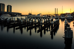 The Sun Setting Quietly (Leanne Cole) Tags: longexposure sunset water photographer photos australia images victoria calm environment docklands fineartphotography boltebridge longexposurephotography environmentalphotography fineartphotographer 10stopfilter environmentalphotographer formatthitechfilters formatthitech leannecole leannecolephotography