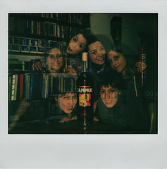 le amiche del campari. (LucaBertolotti) Tags: girls friends polaroid doubleexposure limitededition campari impossible bigbottle polaroidimagesystem polaroiddoubleexposure imagespectra theimpossibleproject camparibigbottle
