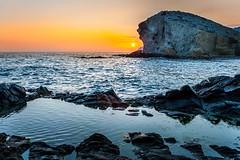 Atardecer en Mnsul (domimb_) Tags: sea espaa sun sol landscape atardecer mar agua paisaje sanjos almera cabodegata mnsul