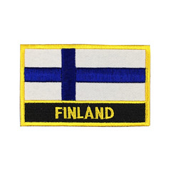 Finland Flag Patch Embroidered Patch Gold Border Iron On patch Sew on Patch Bag Patch (edwardCepheus) Tags: finland gold iron flag border nation sew patch patches embroidered