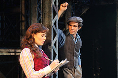 "Morgan Keene (Katherine) and Joey Barreiro (Jack Kelly) in the Broadway Sacramento presentation of ""Newsies"" at the Sacramento Community Center Theater April 12 – 17, 2016.  ©Disney.  Photo by Shane Gutierrez."