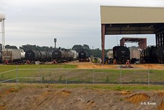 Tank Cars (featfannyc) Tags: amtrak freighttrain passengertrain cityofneworleans tankcars april2015