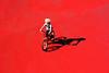 Il biondo al sole (meghimeg) Tags: boy shadow red sun rot bike child ombra bici bimbo sole rosso lavagna royo bicicletta 2011 encarnado