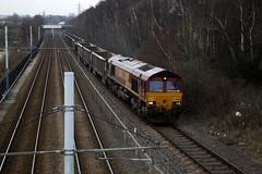 66136 (marcus.45111) Tags: train gm flickr diesel railway canondslr freight dbs 2016 class66 flickruk carbrook sheffieldsupertram canoncameras 66136 canon5dmk11 moderntraction
