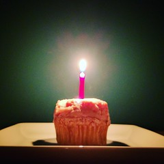 36 (kriegs) Tags: birthday food dessert candle flame cupcake birthdaycake 36 mybirthday birthdaycupcake