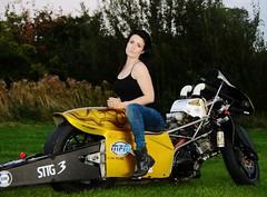 Holly W_7024 (Fast an' Bulbous) Tags: santa woman hot sexy girl bike race speed drag golden pod nikon power boots gimp fast babe chick strip hour motorcycle biker suzuki brunette d7100