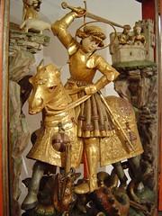 ca. 1508-1515 - 'St. George, Georgsaltar' (Sebald Bocksdorfer), Tyrol, former St.-Georgs-Kapelle, Schloss Ambras, Innsbruck, Austria (roelipilami) Tags: horse castle saint st tirol early george san dragon sint skirt altar jorge armor kills chateau jordi schloss armour georges 1500 castillo joris tyrol innsbruck giorgio sankt heiliger sebald pleated georg maximilian armadura armure rstung chamfron 1508 1510 1515 harnas slays ambras sebold crupper chanfron faltenrock peytral georgsaltar bocksdorfer