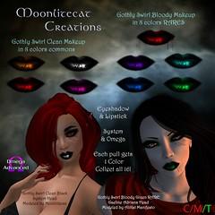 Gothly Swirl Makeup Ad Pic (moonlitecat) Tags: moon dark vampire omega gothic makeup clean boardwalk swirl swirls bloody swirly creations gacha appliers moonlitecat