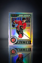 Johnny Gaudreau RC (cdn_jets_cards) Tags: calgary pee o flames deck upper johnny rc platinum chee upperdeck 194 gaudreau 201415