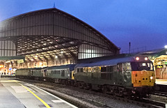 31452 + 45060 + 33103 + 47701 0Z36 1650 Okehampton to Derby Gas Tank Sdgs at Bristol Temple Meads 01.03.2016 (2) (The Cwmbran Creature.) Tags: train 33 rail railway trains class 45 31 railways 47 biritsh