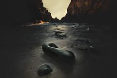 Black Stone (Israel Woolfolk) Tags: california light shadow black stone coast landscapes bigsur pfeifferbeach