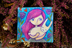 girl-and-rabbit_4 (apolinarias) Tags: pink art girl easter etsy