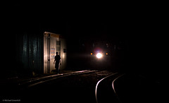 Changing direction (michaelgreenhill) Tags: night au australia trains victoria steam pbr belgrave puffingbilly