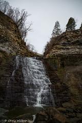 Rockway Falls (awaketoadream) Tags: autumn ontario canada fall water vertical waterfall december angle wide niagara falls southern lincoln region cascade escarpment rockway