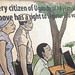Every citizen of Uganda has a right to register and vote - wall mural at Electoral Commission