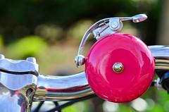 Ding (James_D_Images) Tags: pink bike bicycle metal closeup silver reflections bell bokeh handlebars