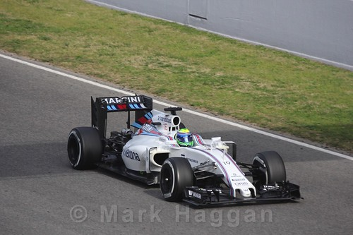 Felipe Massa's Williams in Formula One Winter Testing 2016