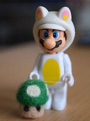 Felted 1up Mushroom (stoychy) Tags: wool mushroom felted geek felting handmade nintendo mario felt 1up tanooki