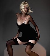 Miss X (David Devonald Smith) Tags: sexy fashion vintage photography fashionphotography models beautifulwomen camisole togs missx blackoutii girdlebystellamccartney stockingsbyagentprovocateur