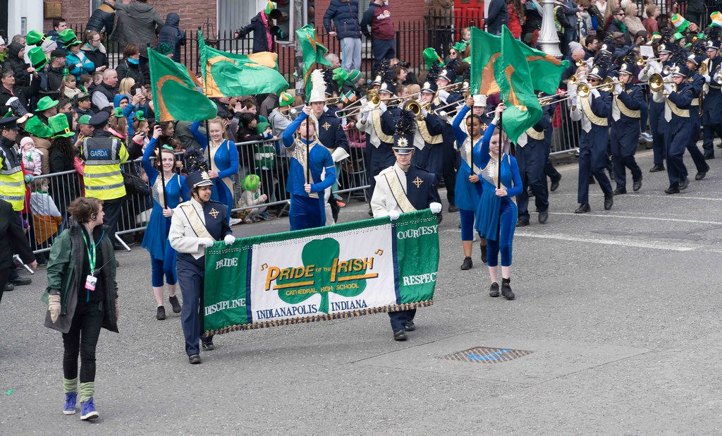 Cathedral High School 'Pride of the Irish' Marching Band [St. Patrick's Day Parade 2016]-112650
