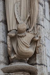 Chartres Cathedral North Porch -Elijah Socle (13C) (Stan Parry) Tags: facade cathedral gothic medieval middleages chartres sculptue socle
