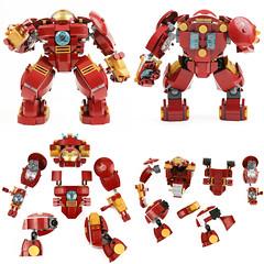 Ironman Hulk Buster (Gzu's Bricks) Tags: brick lego super ironman howto hero buster heroes guide manual hulk marvel instruction mecha exosuit hulkbuster gzu mk44 gzubricks