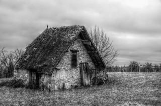 Vieille grange dans le Quercy