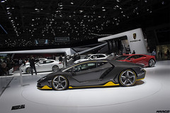 Ferruccio's 100th Birthday (Iceman_Mark) Tags: black geneva geneve lp salon lamborghini supercar motorshow naturally v12 centenario pirelli carbonfibre 2016 65litre pzero 7704 aspirated