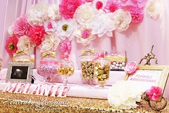 Pink and Gold Baby Shower (heavenlyhandscreations) Tags: pink gold candybar babyshower desserttable girlshower dessertbar goldandpink candytable treattable goldandpinkbabyshower