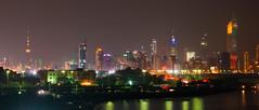 Kuwait City at Night (CamelKW) Tags: skyline night cityscape skyscrapers kuwait kuwaitcity kuwaitfirewarks2016