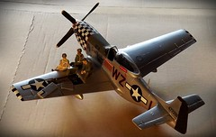 Mustang...a bit more progress (Lammyman) Tags: scale plane model fighter aircraft american planes ww2 mustang p51