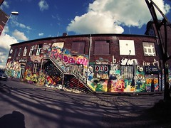 FischEye Test (Markus Rdder (ZoomLab)) Tags: streetart color art wall graffiti kunst olympus fisheye ms graffito muenster mnster hawerkamp writingonthewall olympusomd ms4l