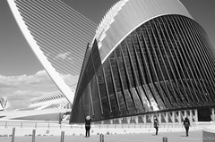 City of Arts and Sciences (Norman Collins2012) Tags: blue santiago light sky white eye valencia sunshine contrast high amazing spain space sharp age curve futuristic