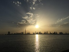 Dubai sunset,concrete jungle,the terrace,awesome view. (junglio) Tags: pinkflamingos concretejungle theterrace dubaisunset panoramicviews dubailagoon