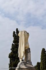 Statue of Trajan (simonevanbergen) Tags: tree architecture garden spring spain ruins roman mosaic seville structure italica svb romanemperor simonevanbergen