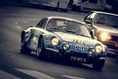 Alpine Renault A110 1600S Gr. IV 1973 (Tom BRETON) Tags: auto street old paris france car vintage tour 4 rally retro 1600 peter alpine vignetting groupe dpart 2016 a110 optic2000 peterauto grp4