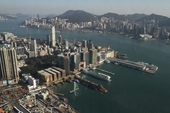 Looking down on the piers of Tsim Sha Tsui (Marcus Wong from Geelong) Tags: hongkong kowloon sky100 hongkong2013