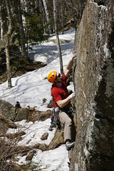 Early Season Projecting (andrickthistlebottom) Tags: climbing traditional spring rock laurentians montagnedargent coeurvaillant 510b outdoor sport