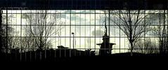 SILHOUETTE REFLACTION (conespider) Tags: england blackandwhite black colour glass silhouette outside blackwhite nikon outdoor hampshire basingstoke reflaction 2016