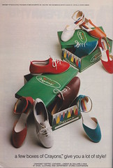 Crayons (moogirl2) Tags: vintage retro 80s 1981 crayons seventeen vintageads vintageshoes 80sshoes