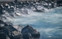 Lake's tides (Alexios_) Tags: park lake nature water rock landscape outside bay colorful wind shore tides