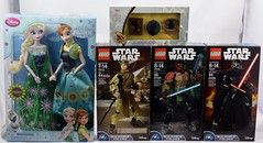 Disney Store Mail Day - 2016-04-08 - Entire Haul - Front View (drj1828) Tags: anna actionfigure starwars doll pin lego alice figure purchase limitededition elsa disneystore 12inch throughthelookingglass le1200 theforceawakens frozenfever