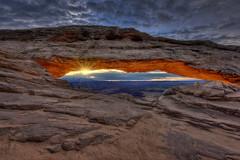 Easter Sunrise at Mesa Arch, Canyonlands National Park, Utah (diana_robinson) Tags: sunrise utah arch naturalbridge canyonlandsnationalpark moab mesaarch eastermorning eastersunrise