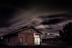 Shed Lost in Time (Leanne Cole) Tags: longexposure abandoned photographer photos shed railway australia images victoria environment disused fineartphotography newstead railwayshed longexposurephotography environmentalphotography fineartphotographer firecrest16 environmentalphotographer formatthitechfilters formatthitech leannecole leannecolephotography abandonedrailwayshed