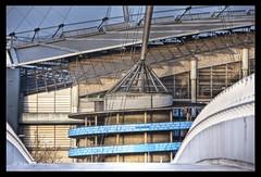 ETIHAD STADIUM HDR MSP0004509 (MIKE SCOTT2) Tags: city mike club scott manchester photography football image footbridge stadium hdr etihad