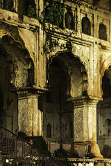 In The Palace (rajivchopra.photo) Tags: india green smog decay arches growth orccha bundelkhand oldkings centralindia woodedareas indianhistory ancientcities oldpalaces plantinwall palatialruins