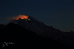 Rakaposhi On Fire (Max Loxton) Tags: travel pakistan mountain rakaposhi hunza baltistan travelpakistan yasirnisar beautifulpakistan pakistaniphotographer maxloxton yasirnisarphtography
