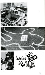 Leaving Our Mark (Hunter College Archives) Tags: students events yearbook social event hunter 1995 subwaystation lexingtonave activities studentbody chalkoutline huntercollege socialevents 68thst studentactivities wistarion studentlifestyles thewistarion